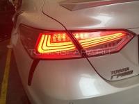 Задние фонари Тойота Камри V70 2018-2021 V15 type [Комплект Л+П; светодиодные; бегущий поворотник]