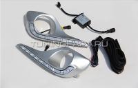 Дневные ходовые огни Тойота Хайлендер 2011-2013 V3 type
