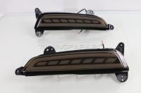 Светодиодные вставки в задний бампер Хендай Крета V2 type Тонированные