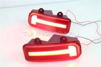 Светодиодные вставки в задний бампер Хонда СРВ V1 Type