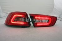 Задние фонари Мицубиси Лансер 2007-2016 красные/прозрачные V12 Type