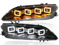 Передние фары Мазда 6 2002-2008 GG V10 type [Комплект Л+П; полностью светодиодные]
