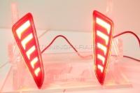Светодиодные КАТАФОТЫ в задний бампер Тойота C-HR 2017-2020 V2 type [Комплект Л+П; светодиодные габариты + стоп сигнал]