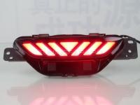 Светодиодные КАТАФОТЫ в задний бампер Тойота C-HR 2017-2020 V5 type [Комплект Л+П; светодиодные габариты + стоп сигнал]
