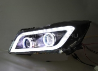 Передние фары Опель Инсигния 2008-2013 V7 Type [Комплект Л+П; ходовые огни; биксеноновая линза Q5; электрокорректор; светодиодный поворотник]