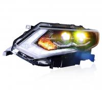 Передние фары Ниссан Х-трейл Т32 2018-2019 V7 type [Комплект Л+П; Светодиодные ходовые огни; FULL LED; электрокорректор]