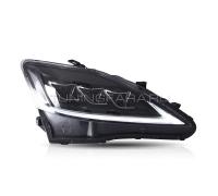 Передние фары Лексус is250 is 350 2006-2012 V1 type [Комплект Л+П; полностью светодиодные; динамичный поворотник; электрокорректор]